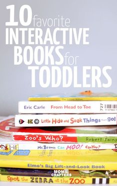 Click to find out our favorite interactive books for toddlers from our bookshelf! Your active toddler will actually sit still through story time with this top book list for toddlers!