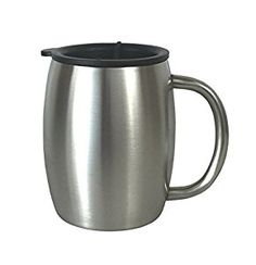 Stainless Steel Coffee Mug with Lid by Avito- 14 Oz Double Walled Insulated - Best Value - BPA Free Healthy Choice - Shatterproof and Spill Resistant