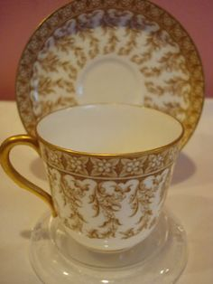WORCESTER ROYAL PORCELAIN CO, cup and saucer, 1876 - 1891