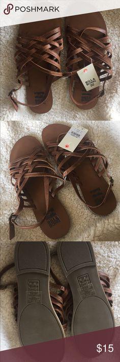 9044fcad8edc Billabong sandals NWT brown strappy sweet sandals Billabong Shoes Sandals