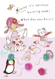 It's National Knitting Week! Can you crochet or knit or do you get into a tangle like Bobble. Painting Collage, Craft Things, Beatrix Potter, Cute Illustration, Tangled, Characters, Adventure, Button, Comics