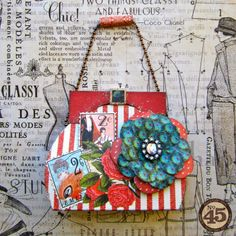 Graphic 45 Couture Purse Tutorial by Maria Cole.