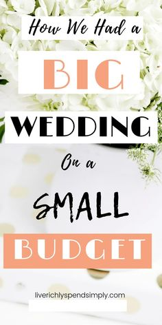 wedding budget Yes, it is possible to have a big wedding on a small budget! Use these frugal wedding tips to save money on your wedding day and still have a cute wedding! Here is exactly how we were able to stick to our wedding budget and cut expenses! Wedding Planning Tips, Wedding Planner, Destination Wedding, Wedding Ideas To Save Money, Diy Wedding On A Budget, Diy Wedding Hacks, Weddings On A Budget, Small Weddings, Wedding Expenses