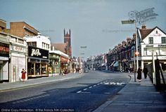 Wealdstone, High Street looking NE with Grant Road on the right past the bus stop. Old Street, Street Look, Street View, London Bus, London City, London Transport, Vintage London, Bus Stop, Back In The Day