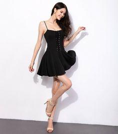 Lace Up Front Dress – Deadly Divine