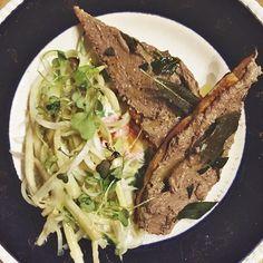 Chicken liver toasts, puntarelle salad. #antipasti #askforluigi #railtown