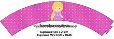 Saias Wrappers para Cupcakes Princesa Loira 2 Cupcakes Princesas, Princess Rapunzel, Family Guy, Fictional Characters, Blond, Kids Part, Fantasy Characters