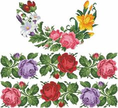This Pin was discovered by Ber Cross Stitch Borders, Cross Stitch Rose, Cross Stitch Flowers, Cross Stitch Kits, Cross Stitch Embroidery, Cross Stitch Patterns, Cross Stitch Pictures, Bead Loom Bracelets, Sewing Box
