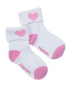 Hanes Toddler Girls Non-Skid Turncuff Socks P6 Hanes. $6.29