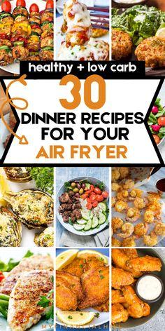 Air Fryer Oven Recipes, Air Frier Recipes, Air Fryer Dinner Recipes, Healthy Dinner Recipes, Cooking Recipes, What's Cooking, Healthy Dinners, Easy Meals, Cheap Air Fryer