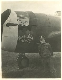 56th Fighter Group, 62nd Fighter Squadron P-47C. Pilot Anthony Carcione.