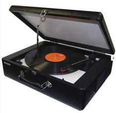 Jensen Portable Turntable Record Player Vinyl 33 45 78 Speakers AuxIn USB New #Jensen #PortableRecordPlayerwithSpeakers