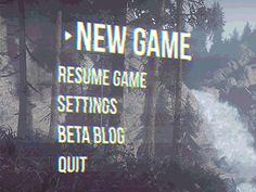 Glitched Game UI