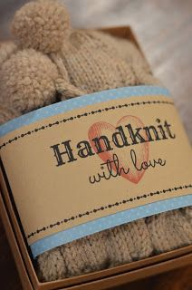 Free Printable- Gift Tag for Handknits with CARE instructions