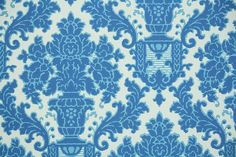 1970s Retro Wallpaper Vintage Blue And White By RetroWallpaper