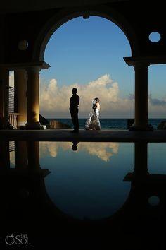 Riviera Maya Wedding Iberostar Paraiso Maya, reflections in love! Mexico wedding photographers Del Sol Photography