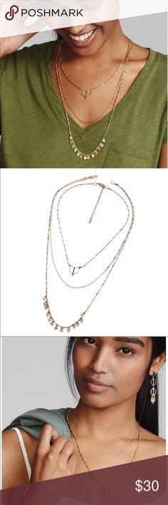 Layered necklace Beautiful classic piece, necklace can all be worn together or by themselves. Brand new in package. Price firm unless bundled Jewelry Necklaces