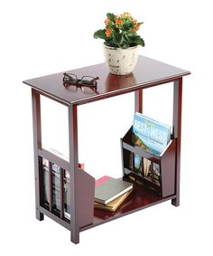 Loving this Magazine Rack End Table on #zulily! #zulilyfinds