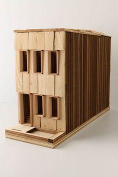 Woooooo @Laura Klein . why didn't we convert our studio projects to birdhouses, I love birdhouses, and then sell them at anthropologie for $400 a pop. Kinda resembled this....