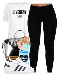 """call me james"" by lovebrii-xo ❤ liked on Polyvore featuring Givenchy, Valfré and adidas Originals"