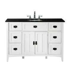 "Bathroom Vanity 48 X 18 pace roma series 48"" x 18"" vanity with bottom drawer. matches"