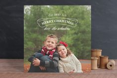 Evergreen Christmas Photo Cards by Rose Lindo at minted.com