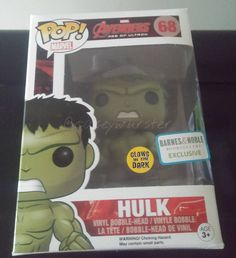 """""""Quad-Hulk-let number three to the family is 68-Hulk (Barnes & Noble)... AND He GLOWS! I think he may have gotten a little too much radiation!  #funko…"""""""