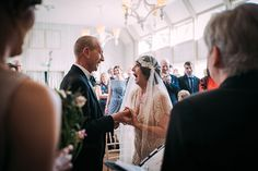 Hampton Manor Wedding Photography saying the vows