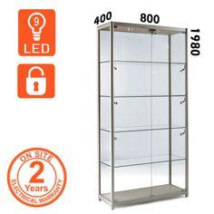 Elegant Used Lockable Glass Display Cabinets