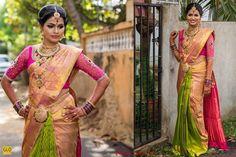 (2) Nina Trend Wedding Sarees, Bridal Sarees, Wedding Dresses, Engagement Saree, Latest Sarees, South Indian Bride, Indian Weddings, Saree Blouse, Anarkali