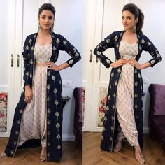 Parineeti Chopra in Payal Singhal's Designer Spring 2017 Collection dress at Kapil Sharma Show for promotion of her upcoming movie Meri Pyaari Bindu