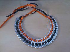 Cómo hacer un collar con anillas de lata - El mundo de Tara