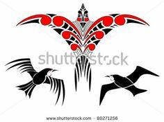 Maori Koru Bird Designs by Pixsooz, via ShutterStock