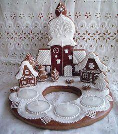 Hungarian honey cake ............ beautiful ~~~~Advent wreath decoration~~~~