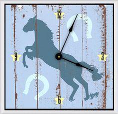 """Cowboy's Horse 11"""" Art Wall Clock"""