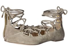 PIERRE BALMAIN Lace-Up Ballet Flats. #pierrebalmain #shoes #flats