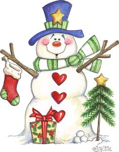 SNOWMAN by Laurie
