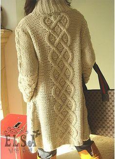 Как вязать спицами пальто. Простая схема вязания пальто | 3vision - Fashion blog
