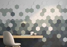 Tridimensional ceramic tiles by Alea