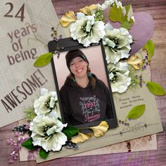 24 Years of Being Awesome by moog. Kit: Hello how are you by Graphic Creations http://scrapbird.com/designers-c-73/d-j-c-73_515/graphic-creations-c-73_515_556/hello-how-are-you-by-graphic-creations-p-17715.html