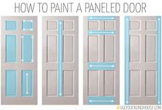 Perfect How To Paint A Paneled Door   Ugly Duckling House(Best Paint Techniques)