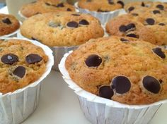 Cupcakes de vainilla con pepitas de chocolate - vanilla chocolate chip cupcakes