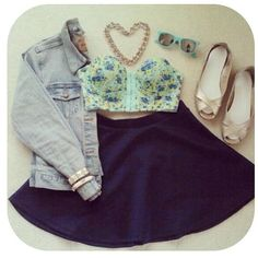 Cute crop top outfit