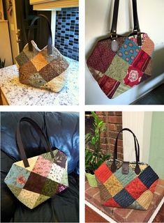 16조각 가방 만들어 보셨나요 : 네이버 블로그 Handmade Fabric Bags, Bodice Pattern, Straw Bag, Diy And Crafts, Pouch, Quilts, Sewing, My Love, Costume Design