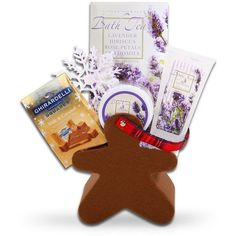 Festive Relaxation Gift Set, Ivory/Caramel/Chocolate... ($29) ❤ liked on Polyvore featuring beauty products and gift sets & kits