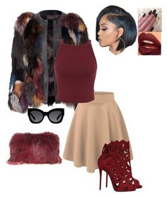 """""""Untitled #232"""" by xoxo-maneshass on Polyvore featuring Karen Walker, Miss Selfridge, Elie Saab, Giuseppe Zanotti and Fiebiger"""