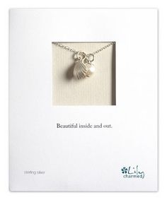 Pearl & Sterling Silver Clam Pendant Necklace