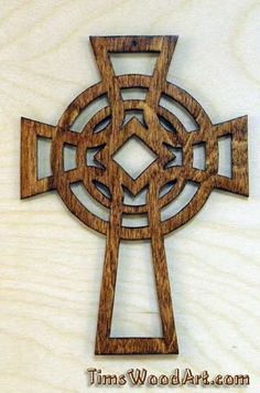 "Celtic Cross ""fancy, Wood Cross,  for Wall Hanging or Ornament, Item S2-4"