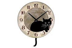 Cat Tail Pendulum Clock