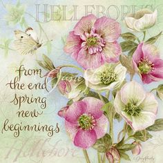 Lang calendar, art by Jane Shasky. from the end spring new beginnings...